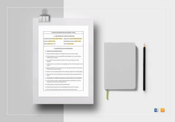 hr officer job description template