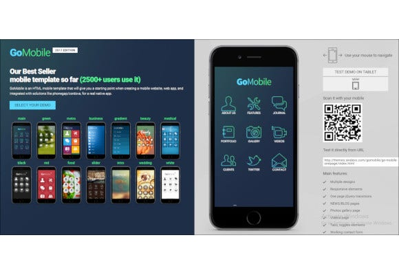 html mobile template
