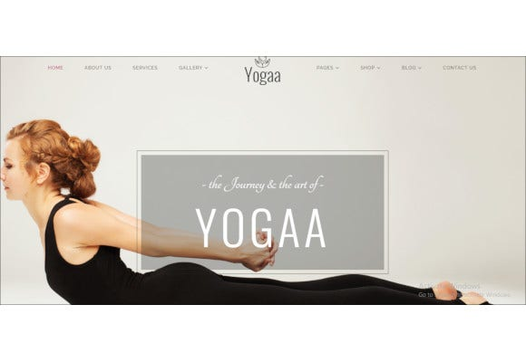 health yoga template