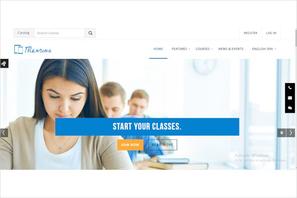 high quality responsive moodle theme