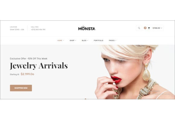 jewelry ecommerce bootstrap template