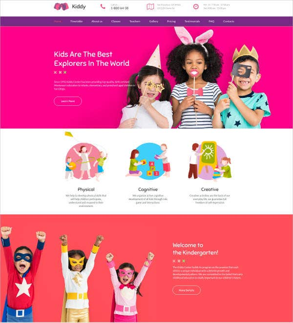 Kiddy Responsive Website Template