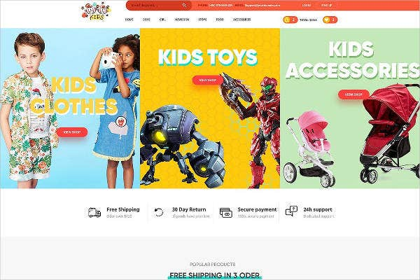 kids-accessories-website-template