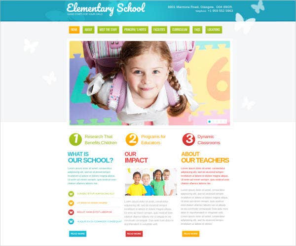 kids-education-website-template