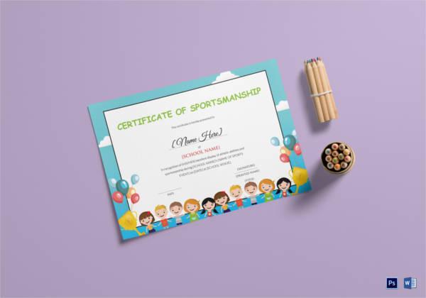 kids-sportsmanship-certificate-template