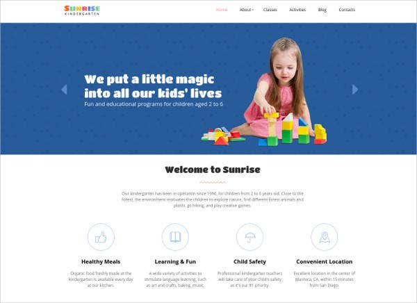 kindergarten-responsive-website-template