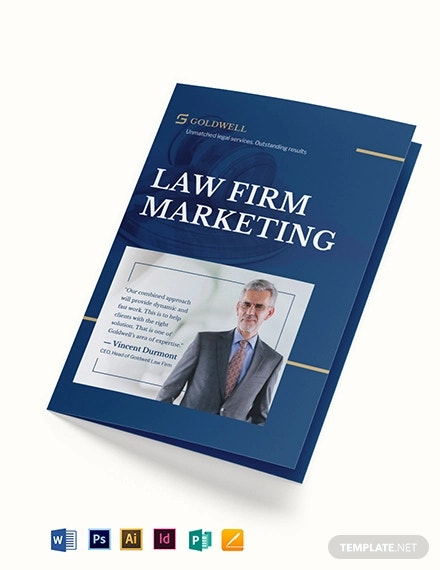 law firm marketing bi fold brochure template