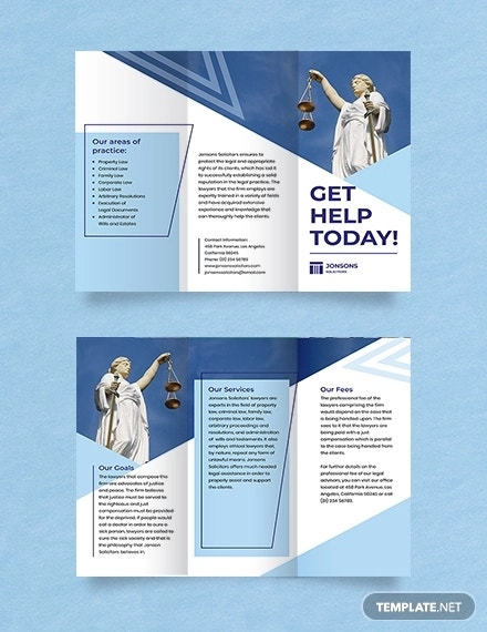 law firm trifold brochure template