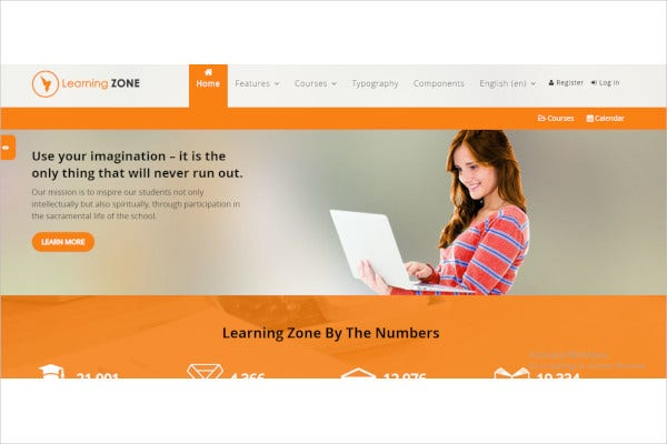 learningzone responsive moodle theme