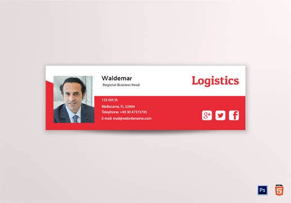logistics-email-signature-template