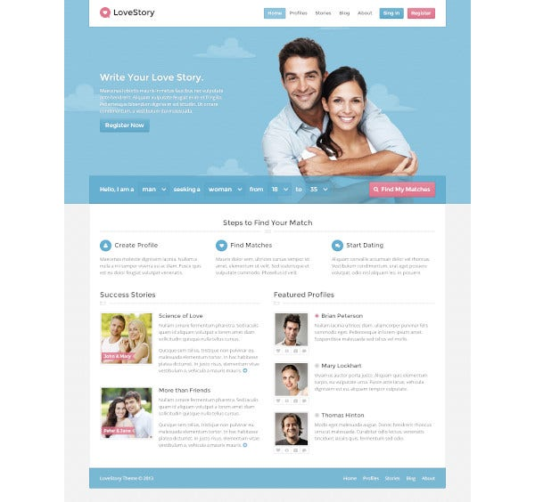 Dating templates for free