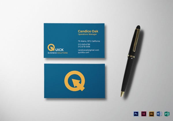 manager business card ilustrator template