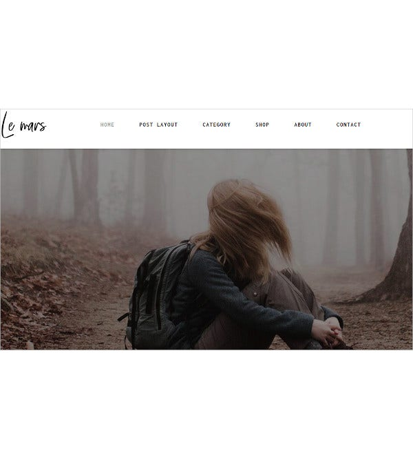 minimal personal blog html template