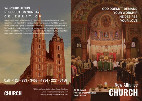 Modern Church A4 Brochure