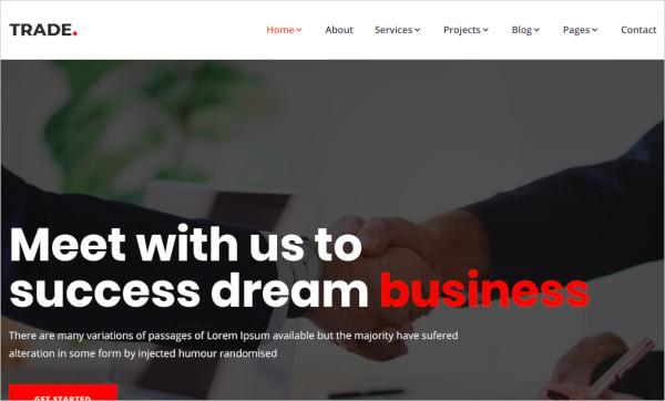 multipurpose business corporate html5 template