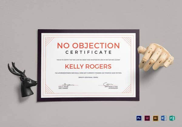 No Objection Certificate Template - 12+ Free Word, PDF Document ...