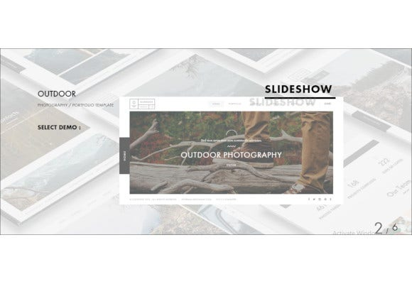 outdoor photography portfolio template