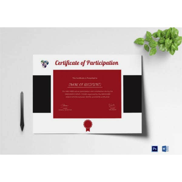 participation-certificate-for-snooker-template