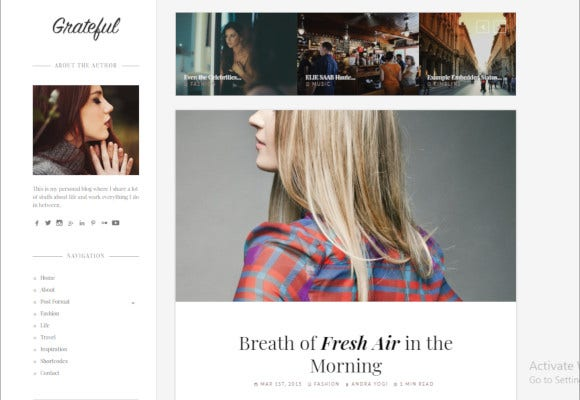 personal blog wordpress theme2