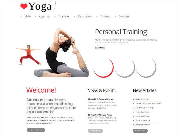 25 yoga website themes templates free premium templates