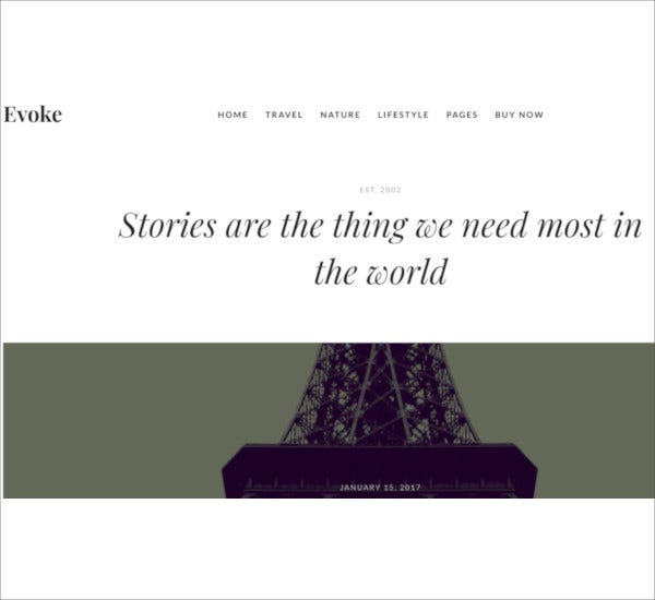 photo stories wordpress blog theme
