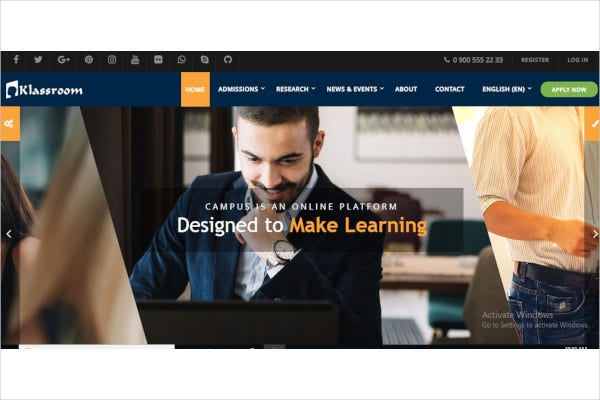 responsive moodle theme1