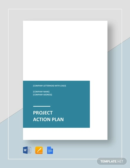 sample project action plan template