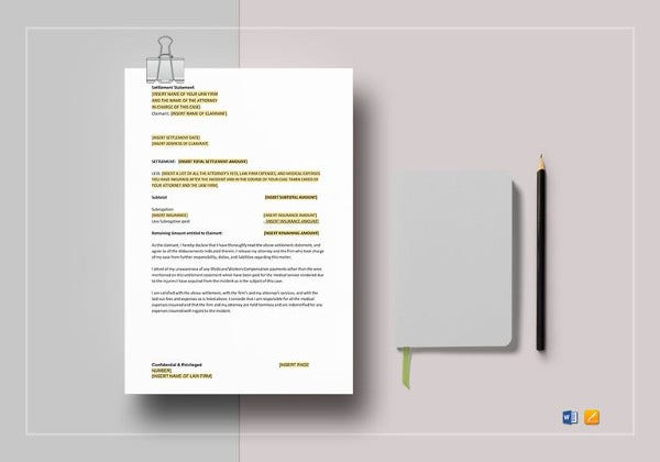 settlement statement template
