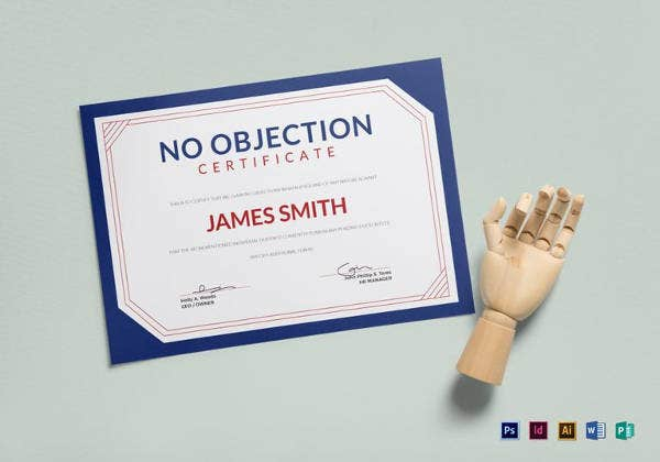 Simple No Objection Certificate Template