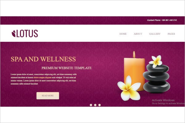 spa wellness concrete5 theme