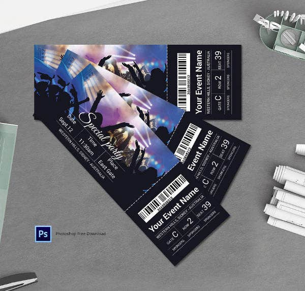 special-party-ticket-template