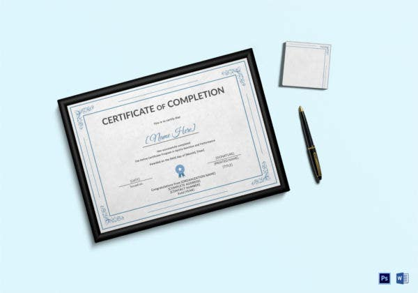 Sports Nutrition Training Completion Certificate
