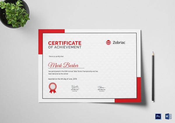 table-tennis-achievement-certificate