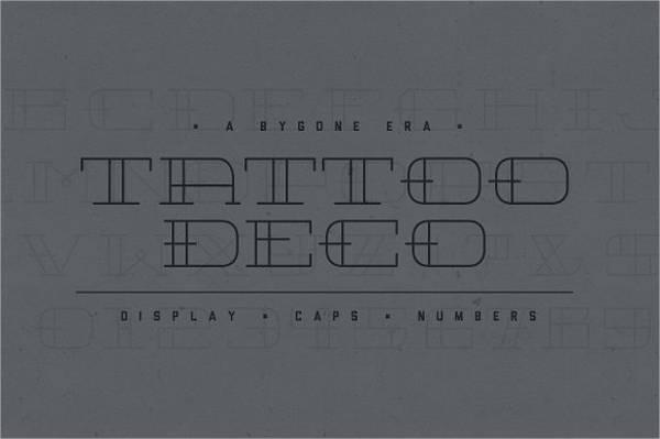 tattoo deco font
