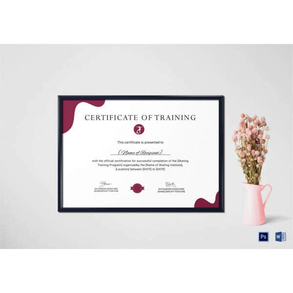 training-certificate-for-skating-template