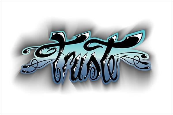 trust tattoo font1