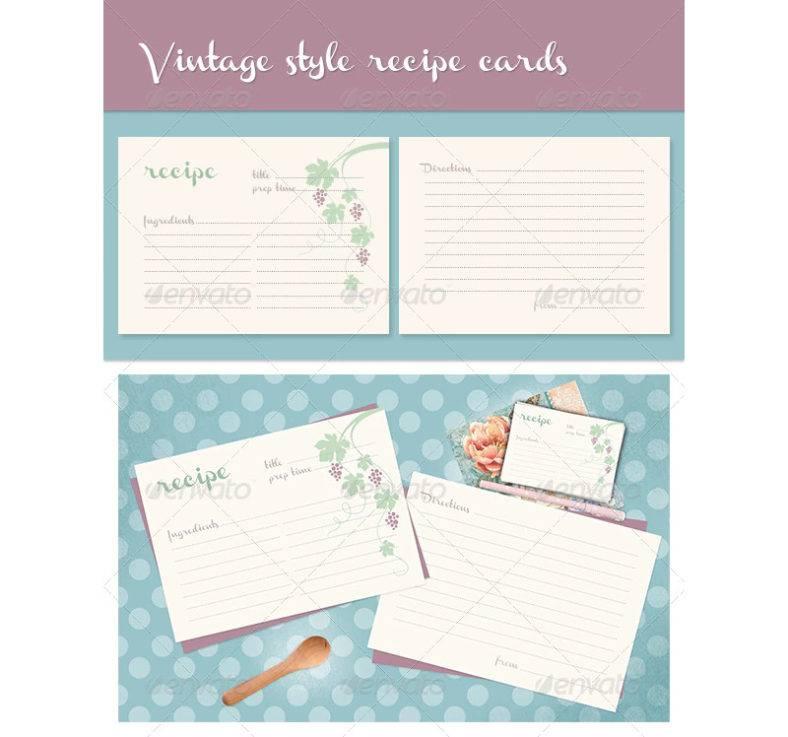 vitage recipe cards 788x737