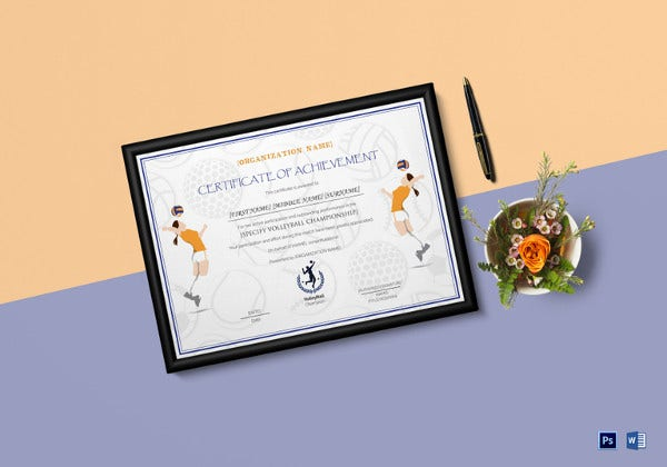 volleyball-achievement-certificate