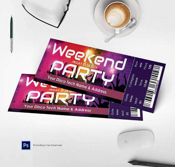 weekend-party-ticket-template