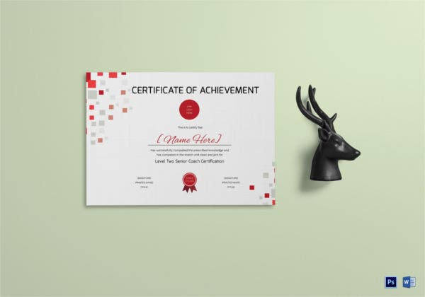 Weightlifting Achievement Certificate