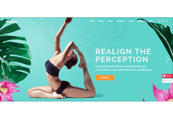 yoga fitness and lifestyle theme