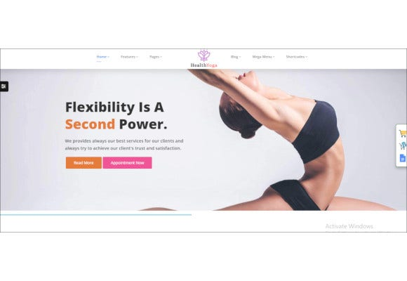 yoga gym html template