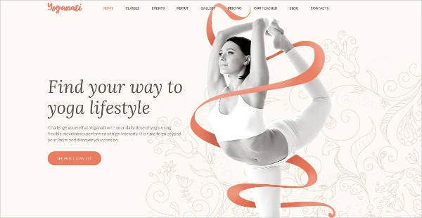 yoga responsive website theme template