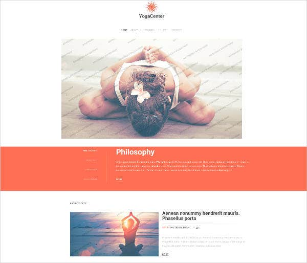 yoga responsive website
