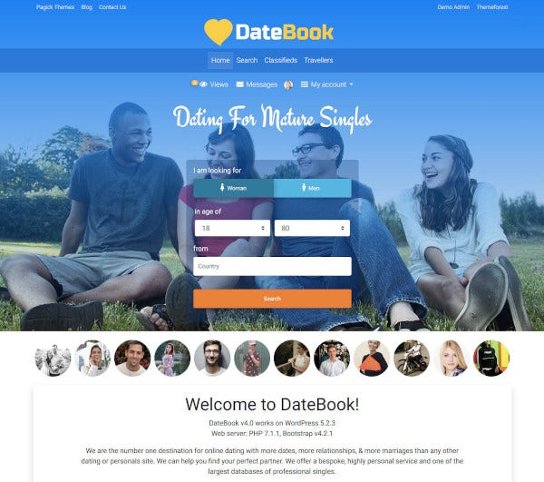 bootstrap dating tema site- ului)