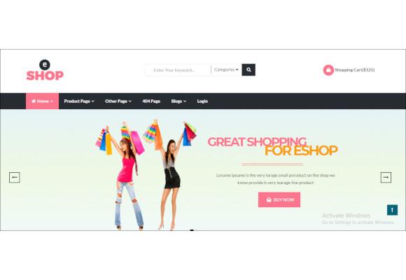 eshop multipurpose ecommerce html template