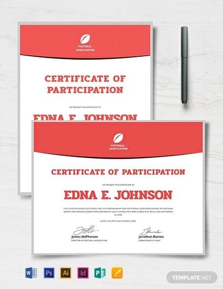modern soccer certificate
