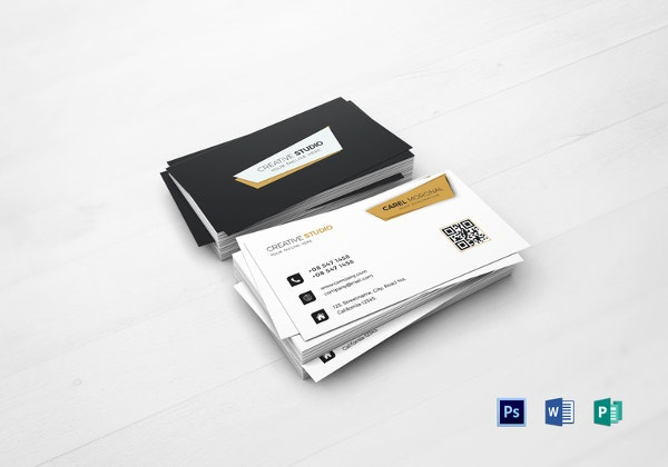 33 professional business card designs that will inspire you free professional business card template in word accmission Choice Image