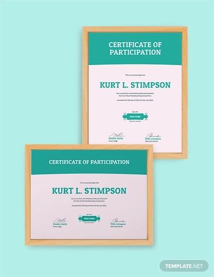skateboarding certificate