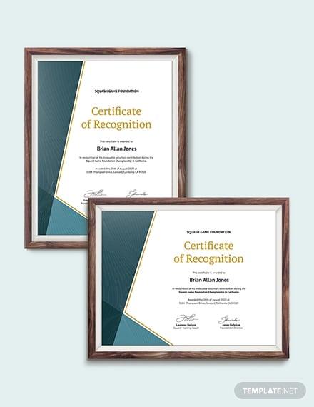 squash certificate template1